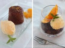 Suklaa-kookoskakku & appelsiinijäätelö